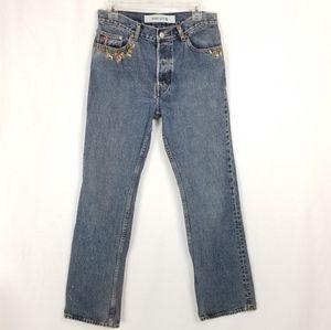 Gap Embroidered bootcut lightwash jeans sz 10